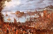 Jan Brueghel The Great Fish Market oil painting picture wholesale